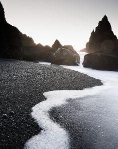 Reynisdrangar rocks, Iceland by Mats Berglund #B
