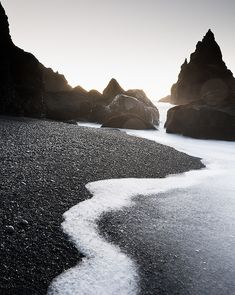 travelingcolors:    Reynisdrangar rocks | Iceland (by Mats Berglund) - Modern Hepburn