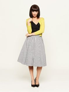 The Bella Cardi & Mon Amie Check Skirt
