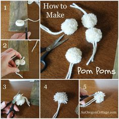 How To Make a Wool Pom Pom Wreath & Garland {an Anthropologie Knock-Off} - An Oregon Cottage
