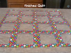 Classroom DIY: DIY Duct Tape Baggie Quilt {I like this idea for organizing the kids small toys up on the wall so they can see them}