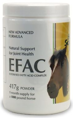 EFAC Joint Health Advance Formula for Horses (417 g) by Hope Science Vet. $199.99. EFAC Joint Health Advance Formula for horses is comprised of natural fatty acids or oils that have a potent lubricating action on our cells. A patent was award after years of research showed EFAC offered an entirely new and clinically proven approach to joint health. In clinical trials, the majority of participants experience greater joint health and mobility. EFAC is the new, clinically pr...