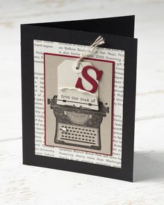 "Awesome card by @Sara Douglass from Stampin' Up! for ""Stamping Month"" on Ella Publishing's blog"