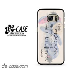 Eeyore Donkey Quotes DEAL-3835 Samsung Phonecase Cover For Samsung Galaxy S7 / S7 Edge