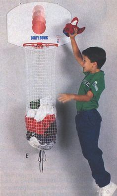 Dirty Dunk Basketball Hamper. My parents were so smart. This was the only way for me to pick up my clothes.