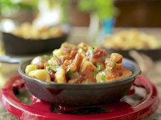 Goat Cheese Gnocchi with Bacon, Dates and Kentucky Wine Sauce Recipe : Damaris Phillips : Food Network