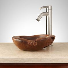 Turpin Teak Root Vessel Sink