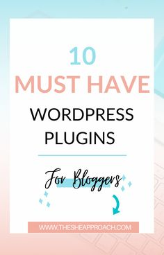Wordpress is one of the best platform and a lot of people starts their websites on this platform - myself included! In this posting you will information about Wordpress Platform & I will show you 10 must-have wordpress plugins for bloggers that will help you a lot! #wordpressplugins #bloggingtips #wordpresstips Small Business Marketing, Business Tips, Online Business, Make Money Blogging, Blogging Ideas, Wordpress Plugins, Blogging For Beginners, Blog Tips, How To Start A Blog