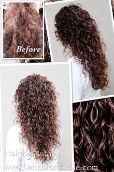 Before and after, #naturally #curly #hair. Styled with gel Elie Curl Definesse No. 9 Elixir Boucle Medium to Thick Hair. http://www.elieelie.com/store/ Stylist: Natalya. Model: Lanie N. To achieve this result gel should be applied section by section and gently defuse. Style can last through 2-3 days. To refresh - spray water or light conditioner.