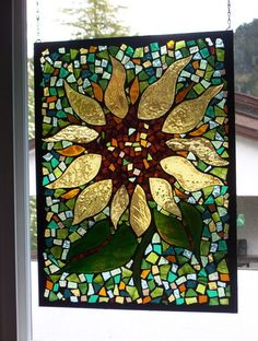 sun flower stained glass
