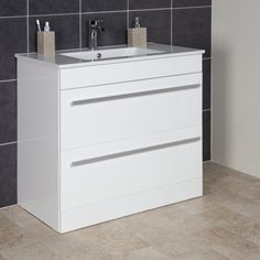 The UK White Bathroom Vanity Units Shop. Huge Range of White Bathroom Vanity Units in stock. Bathroom Sink Vanity Units, Double Basin Vanity Unit, White Vanity Unit, Rustic Bathroom Vanities, White Vanity Bathroom, Simple Bathroom, Bathroom Ideas, White Bathrooms, Design Bathroom