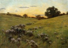 Flowering Field 1889 painting Arthur Wesley Dow | Oil Painting Reproduction