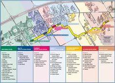 Avoid The Traffic Las Vegas Monorail - Las vegas walking map