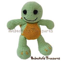 Amigurumi Timothy Turtle CAL - Free by Rebeckah Ferger / Turtles - Animal Crochet Pattern Round Up - Rebeckah's Treasures