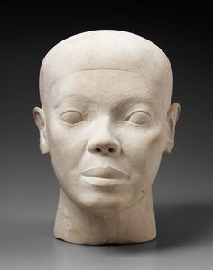 Reserve head. Egyptian, Old Kingdom, 4th Dynasty, reign of Khufu-Khafra, 2551-2494 B.C.