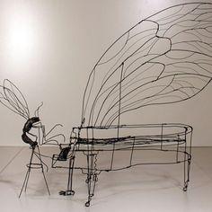 Martin Senn - Wire sculpture - Sculture in fil di ferro