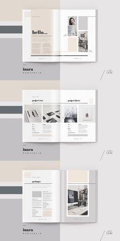 Inara Portfolio Template #portfolio #lookbook #brochure #template #brochuretemplates #indesign #templates #layout #editorial -  - #Architecture