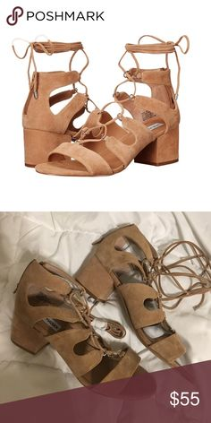 77509f0125a6 New Steve Madden lace up sandals New never worn Steve Madden suede lace up  sandals.