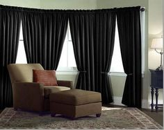 Velvet Curtain Panel Drape 5W x 8H Black Home Theater Energy Efficient Curtain #TableclothMarket