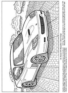 Ferrari 575 Maranello 2-door Coupe - Classic Cars Coloring Book, Dover Publications