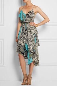 Etro Ruffled printed silk crepe de chine dress NET-A-PORTER.COM