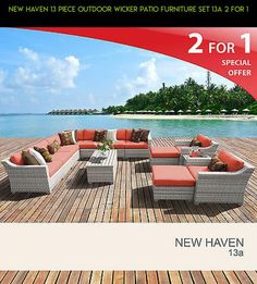 New Haven 13 Piece Outdoor Wicker Patio Furniture Set 13a 2 for 1 #patio #gadgets #parts #shopping #products #tech #camera #plans #kit #13 #furniture #technology #racing #fpv #piece #drone