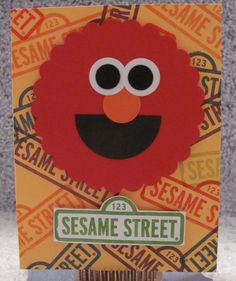 Elmo handmade A2 kids greeting card Sesame Street by The Royal Pumpkin on The CraftStar #thecraftstar #uniquegifts