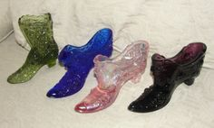 vintage gorgeous shoes and boots | for bid is a gorgeous lot of collectable fenton shoes 3 shoes 1 boot ...