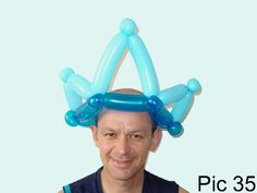 Balloon animals twisting instructions: How to make balloon crown. Crown balloon hat. Balloon crown tutorials