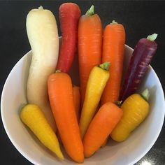 Multi-colored carrots are fun (and yummy)! #garden #gardening #homegrown #carrots #westcoastliving #nomnom #instayum