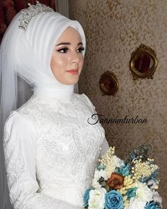 The way you look, you see & . wedding dresses dresses the # Gelinmakyaj of Turkish Wedding Dress, Muslim Wedding Gown, Hijabi Wedding, Wedding Hijab Styles, Muslimah Wedding Dress, Hijab Style Dress, Hijab Wedding Dresses, Bridal Dresses, Dress Wedding