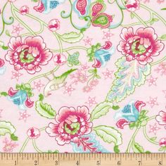 Cynthia's Dream Flannel Cynthia Pink from Designed by Nadene… Shades Of Green, Wall Design, Fabric Design, Flannel, Eco Friendly, Sewing Projects, Wall Fabric, Green Aqua, Flame Retardant