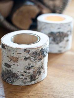 Birch Bark Tealight Holder