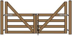 Category: Wood Fence Let us help you build a better gate. A gate that will. Diy Gate, Diy Fence, Farm Gate, Farm Fence, Horse Fence, Wooden Diy, Diy Wood, Farm Entrance, Diy Driveway