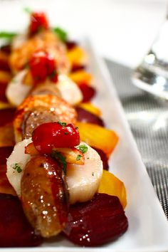 Beet and Scallop Salad with Crabapple Relish Recipe
