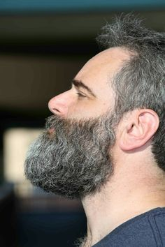 dense grey beard.