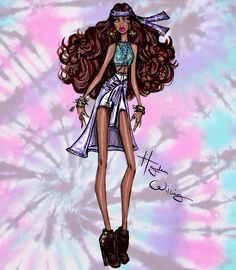 Hayden Williams Fashion Illustrations: 'Festival Fierce' by Hayden Williams: Look 3