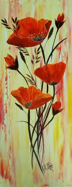 Peinture acrylique sur toile 20x50  By Raffin Christine  Facebook : L\'étoile de Chris