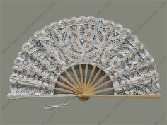 Wedding Programs Made Like Fans | folding hand fans - wedding fan programs - Han Fung Drawn Work super pretty.