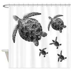 SEA TURTLES Shower Curtain on CafePress.com