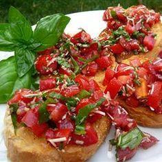 Brusqueta de tomate com balsâmico
