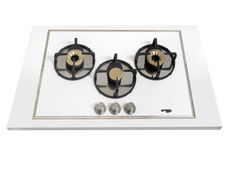 Pramar Stone Dekton Flat 3 Burners Hob. Arc steel burners.