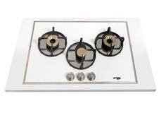 Pramar Stone Dekton Flat 3 Burners Hob. Arc steel burners.