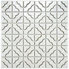 Larger View Merola Tile Palace White 11-3/4 in. x 11-3/4 in. x 5 mm Porcelain Mosaic Floor and Wall Tile	 Home Depot USA