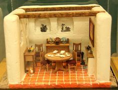miniature adobe houses images | Dolls house dining room decorated in the South West Style from the ...