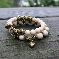 Silk Fossil Memory Wire Bracelet - Inspiration