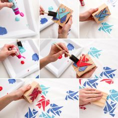 Learn how to make custom hand-stamped fabric with this DIY.