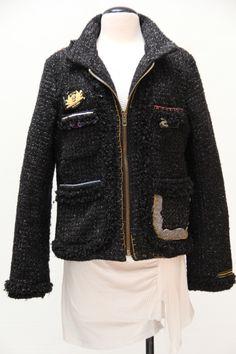 @Desigual #boucle jacket #consignment #desigual