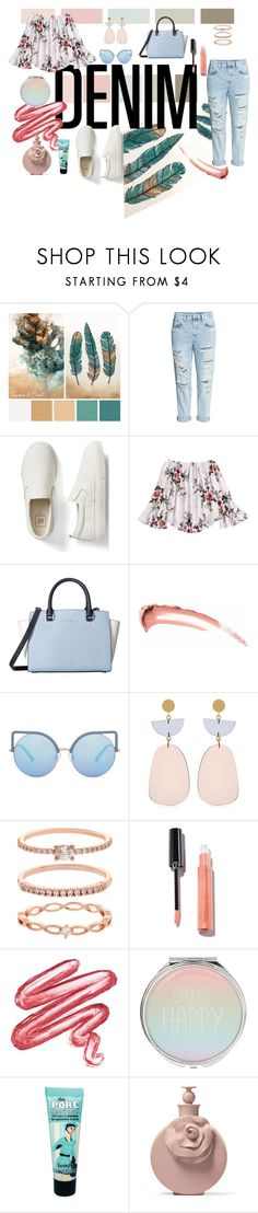 """""""Untitled #58"""" by ichaha ❤ liked on Polyvore featuring H&M, Gap, MICHAEL Michael Kors, Matthew Williamson, Isabel Marant, Accessorize, Lime Crime, Benefit, denim and 2017"""