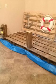 Surf Shack vbs pier made from wood palletts
